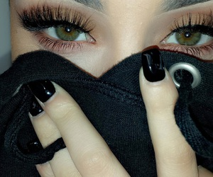 eyes, girl, and nails image