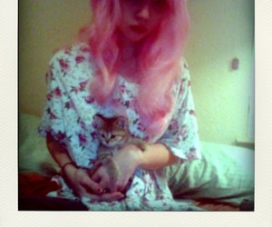 allison harvard, pastel, and pink hair image