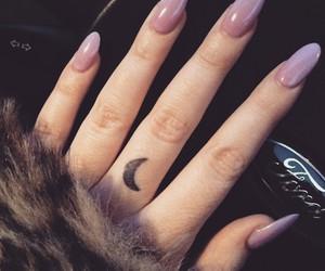nails, tattoo, and moon image