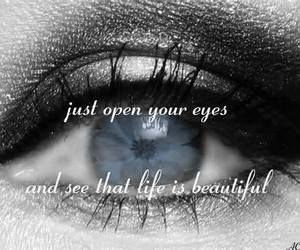 beauty, open, and eyes image