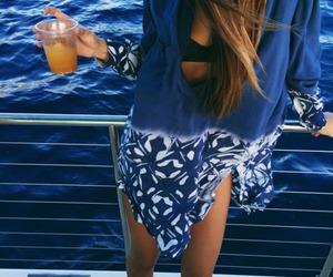 fashion, sea, and summer image