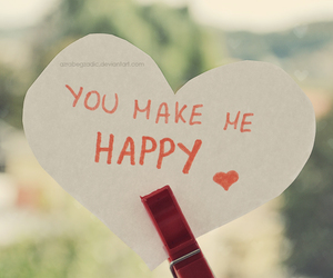 happy, heart, and text image