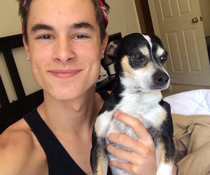 kian lawley, dog, and smile image