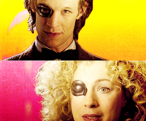 doctor who, river song, and melody pond image