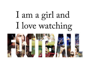 football, girl, and soccer image