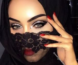 eyes, makeup, and arab image