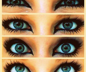 eyes, green, and happy image