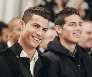 real madrid, james rodriguez, and cristiano ronaldo image
