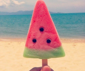 summer, watermelon, and beach image