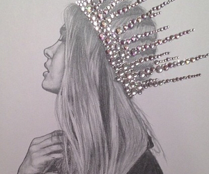 crown, drawing, and hair image