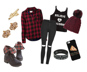 beanie, black, and boots image