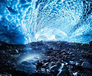 cave, ice, and washington image