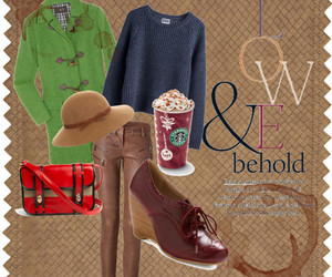 clothes, coat, and coffee image