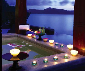 candle, romantic, and luxury image