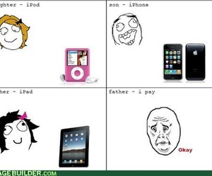 funny, ipad, and iphone image