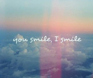 smile, sky, and clouds image