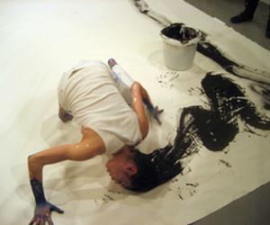 art, hair, and black image