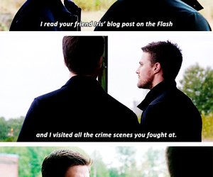 arrow, quotes, and the flash image