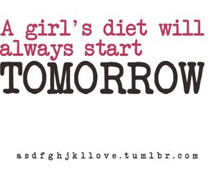 girl, text, and diet image