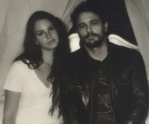james franco, lana del rey, and black and white image
