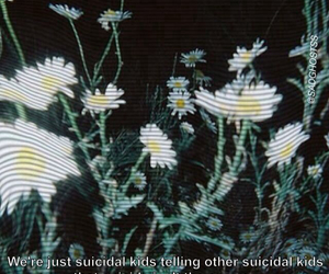 grunge, depression, and flowers image