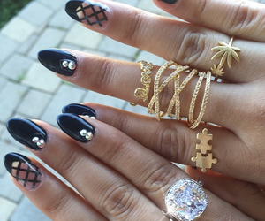 black, bling, and jewelry image