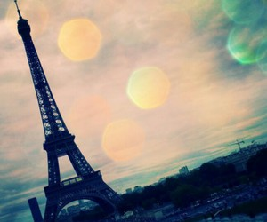 blue, eiffel, and pink image