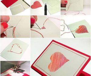 heart, card, and diy image