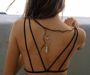 beach, black, and fashion image