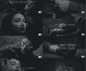 scott mccall, teen wolf, and allison argent image