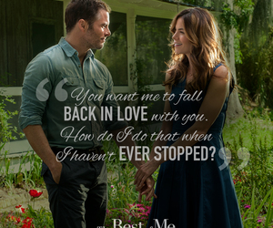 love, the best of me, and nicholas sparks image