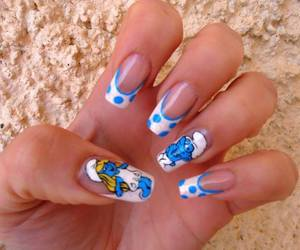 nails, smurfs, and art image