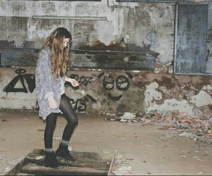 girl, grunge, and hipster image