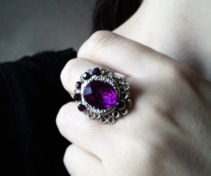crystal, earrings, and goth image