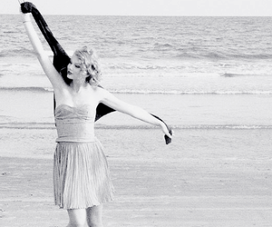 Taylor Swift and beach image
