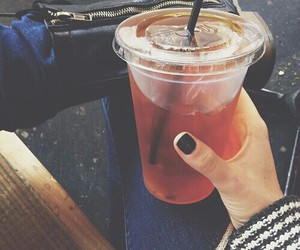 drink, nails, and tea image