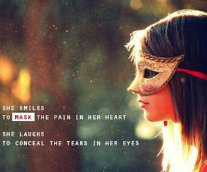 mask, tears, and pain image