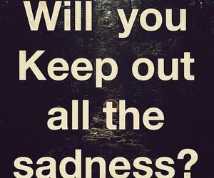 sadness and text image
