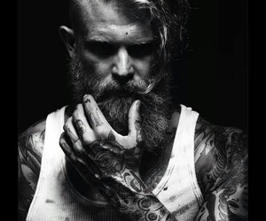 beard and tattoo image