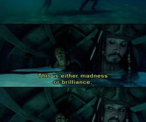 jack sparrow, madness, and pirates of the caribbean image