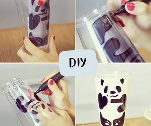 diy, panda, and milk image