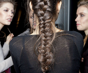 hair, braid, and model image