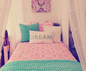 pink, bedroom, and decor image