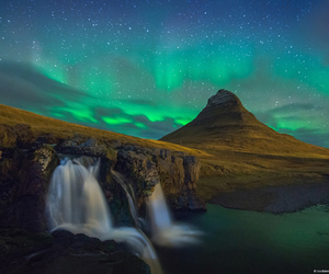 auroras, iceland, and northern lights image