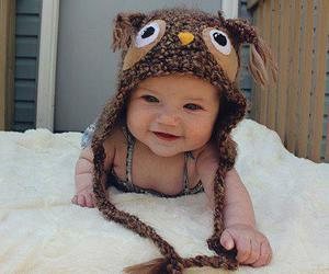 baby, cute, and owl image