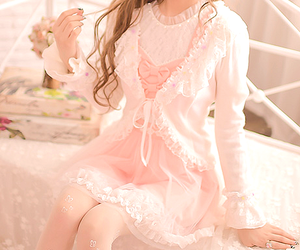 fashion, kawaii, and lace dress image