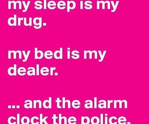 sleep, bed, and drug image