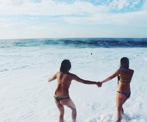 girls, summer, and friends image