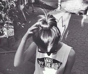 vans, girl, and hair image