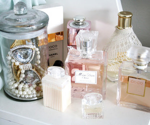 perfume, chanel, and dior image